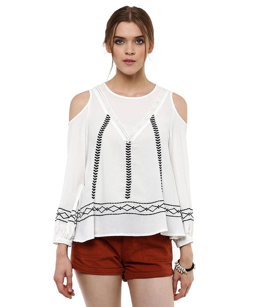 Loom Tree Cold Shoulder Top