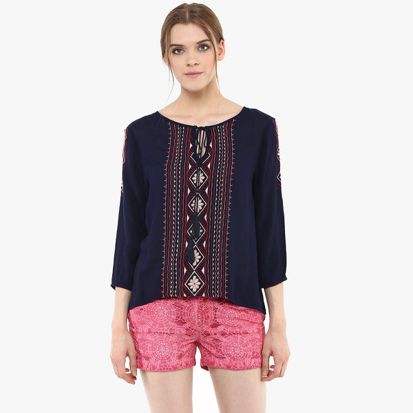 Zia Embroidered Top
