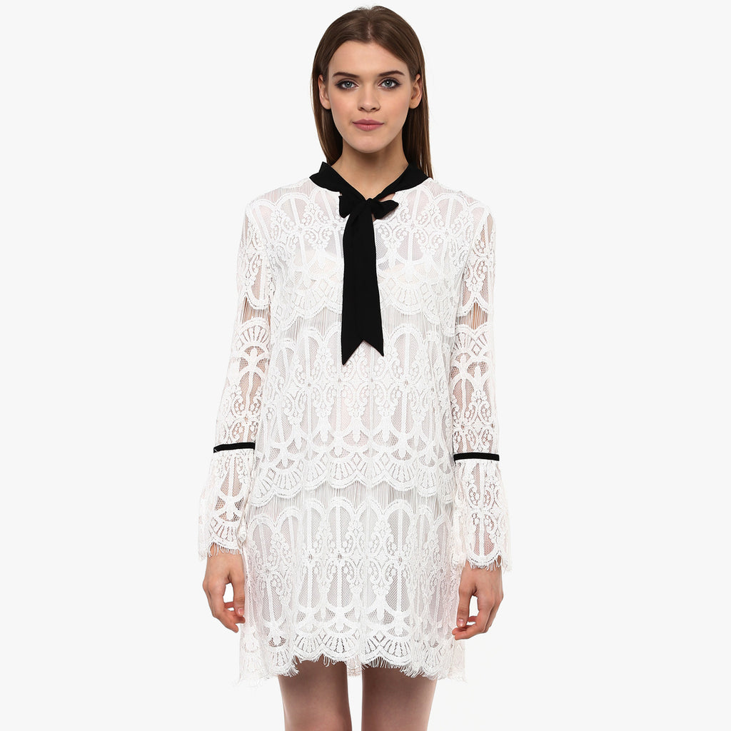 Anouksha Lace Swing Dress