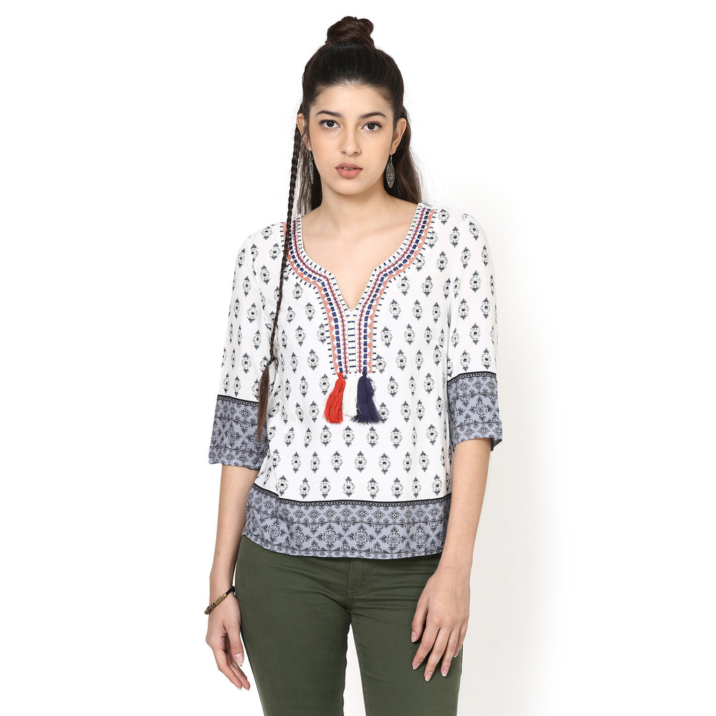 Nimrat Printed Easy Top