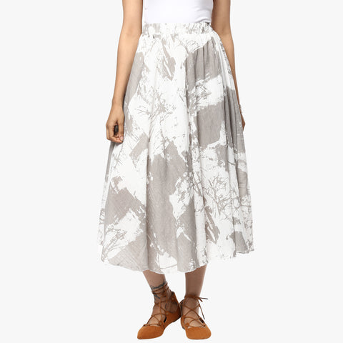 Efren Abstract Print Easy Skirt