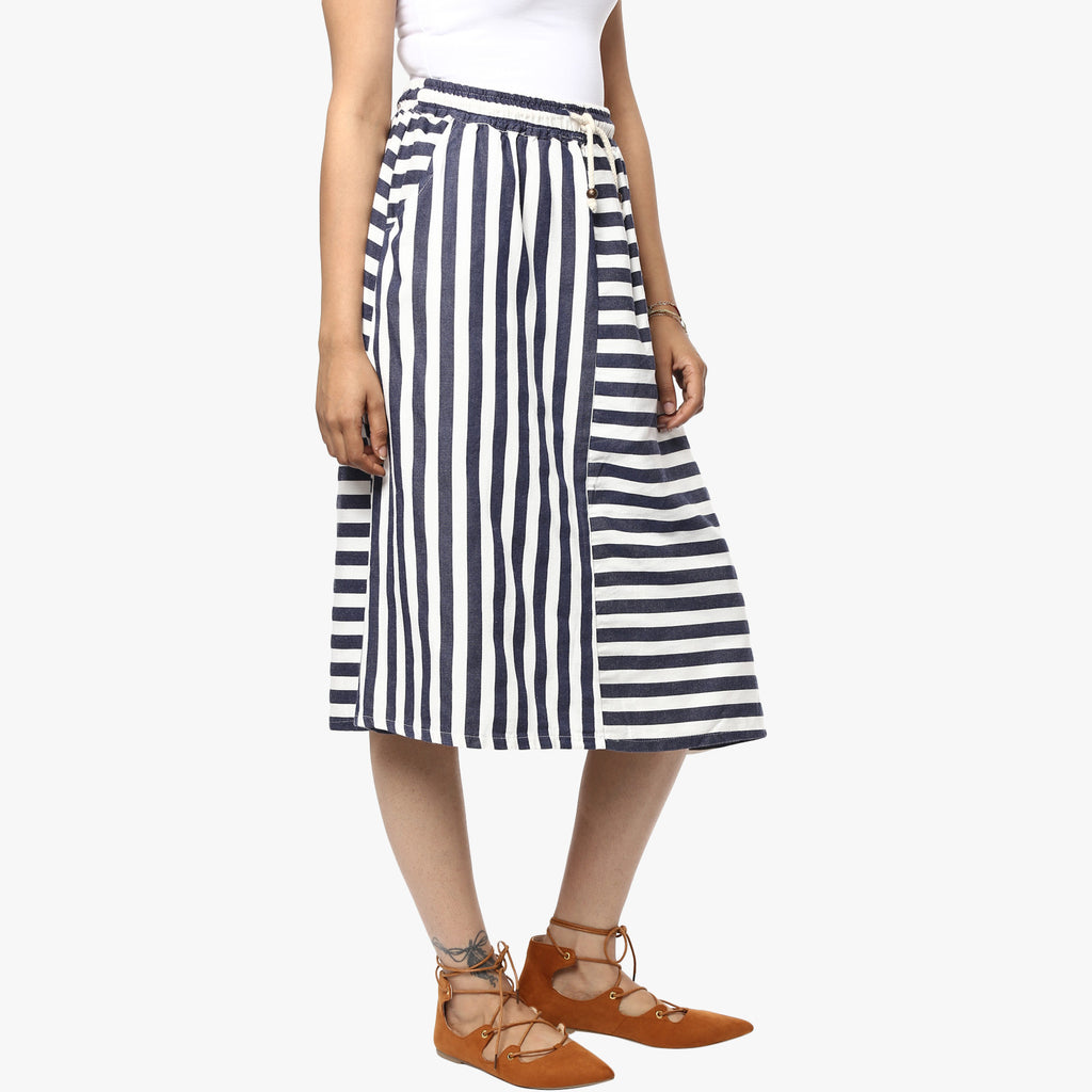 Hania Striped Skirt