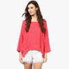 Ruby Red Boat Neck Top