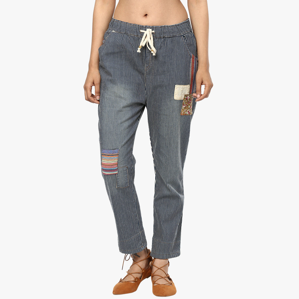 Addai Patchwork Denim Pants
