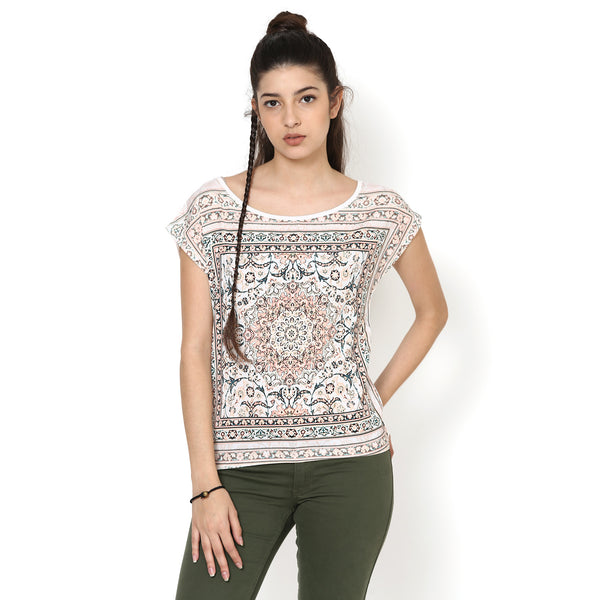 Bindya Scarf Print Top