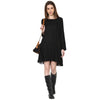 Easy  Panelled Hi-Low Dress
