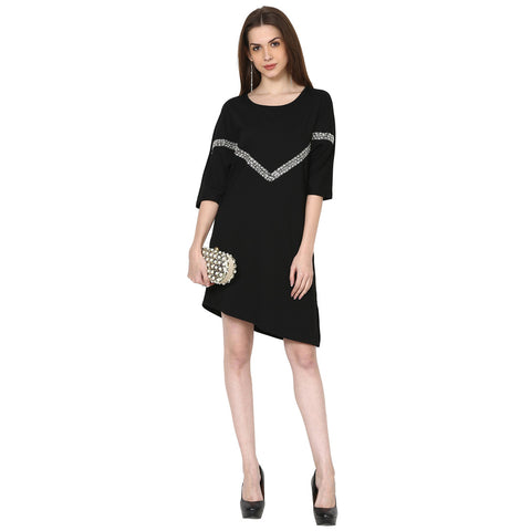 Zyra Embellished Tunic Dress