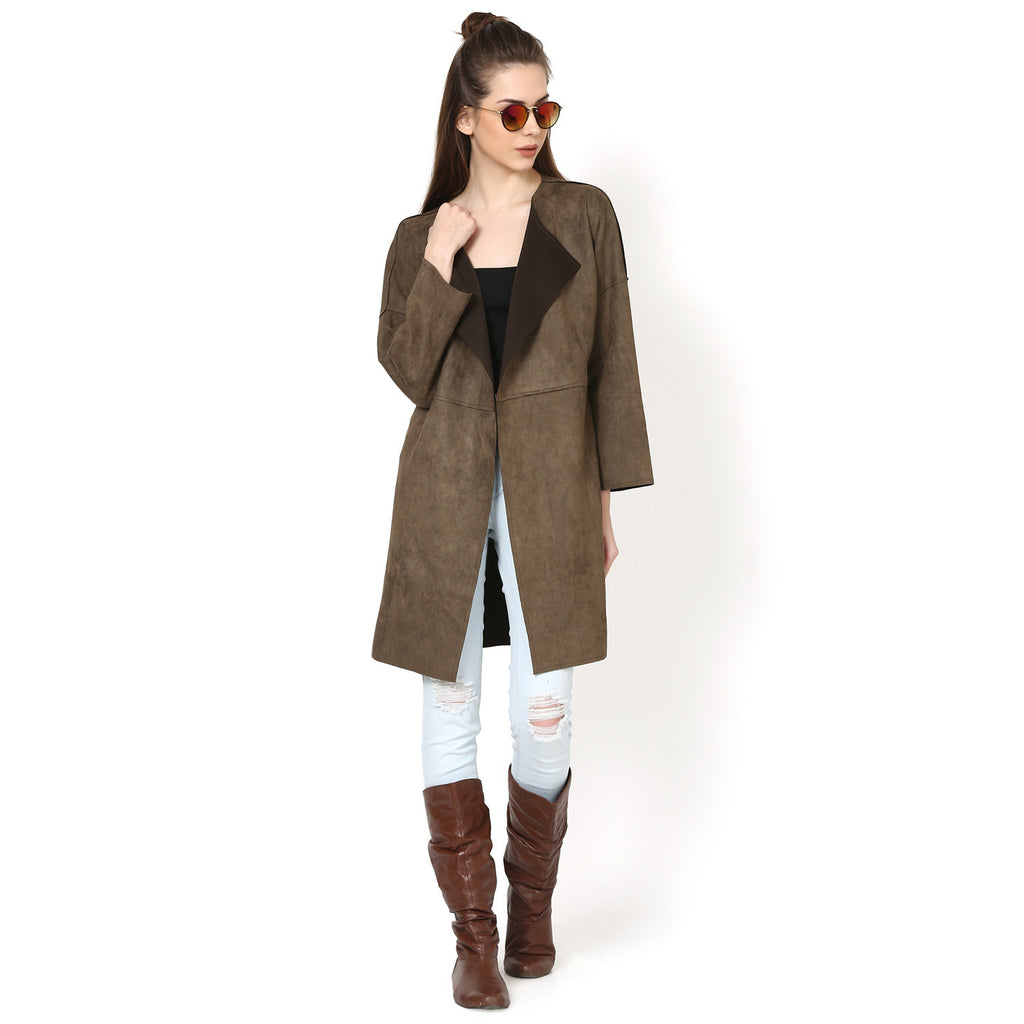Kylie Suede Over Coat