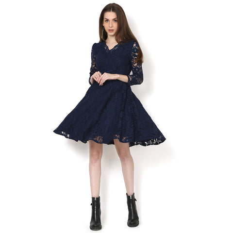 Garry floral Lace  fit and flare dress