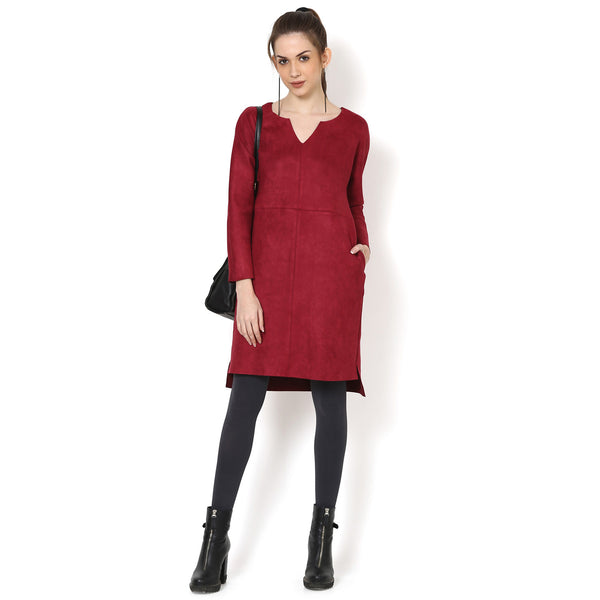 Yuvika Suede Dress