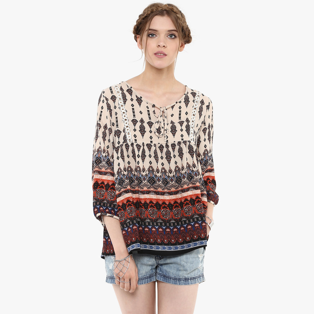 Sneh Printed Easy Top
