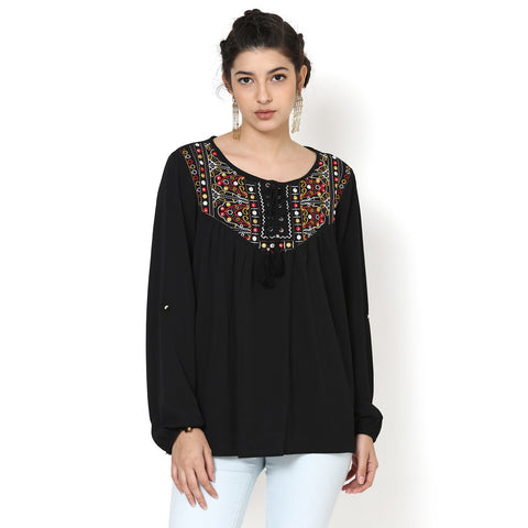 Ashita Embroidered Top