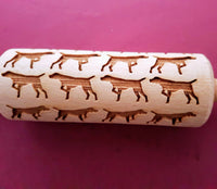 Pointer Dog - MINI embossed, engraved rolling pin for Cookies , Biscuits & Pastry