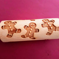 Gingerbread - MINI embossed, engraved rolling pin for Cookies , Biscuits & Pastry