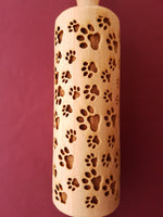 Paws - MINI embossed, engraved rolling pin for Cookies , Biscuits & Pastry