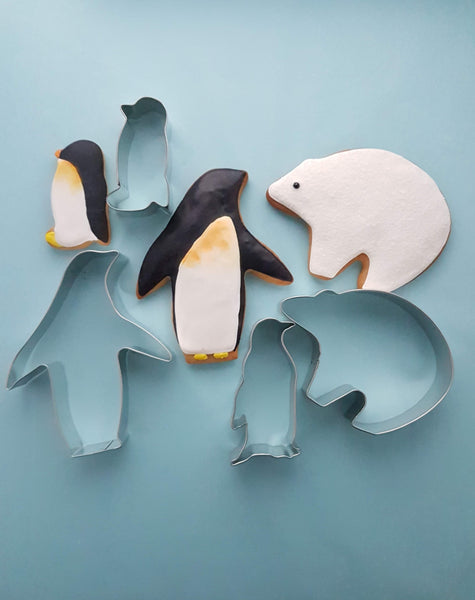 Sea Life Penguins Cookie Cutter & Polar Bear Cookie cutter