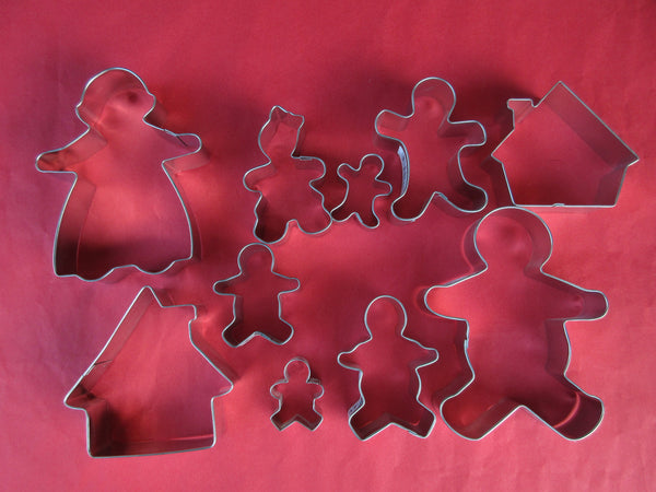 Christmas Cookie Cutters - Gingerbread Family