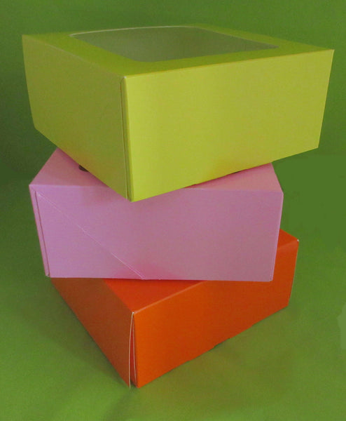 Cupcake Boxes 4 Cup Orange Lemon or Pink