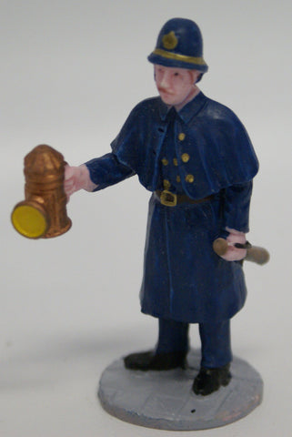 Policeman with oil light. Train figure.