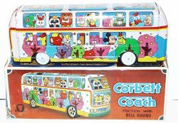 Vintage Toy Bus with Disney Characters. Tin Lithographed.