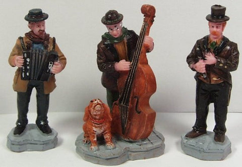 3 Street Musicians & Dog 2-1/2 in. train figures :