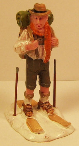 Camper on skiis 2-3/4 in. train figure :