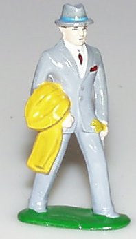 "Train station figure 3"" Gentleman with Coat"