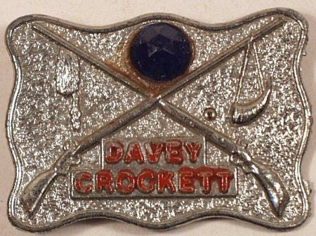 Davey Crockett Metal Pin