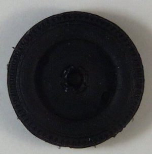 Keystone wheel rubber Toy wheel 2""