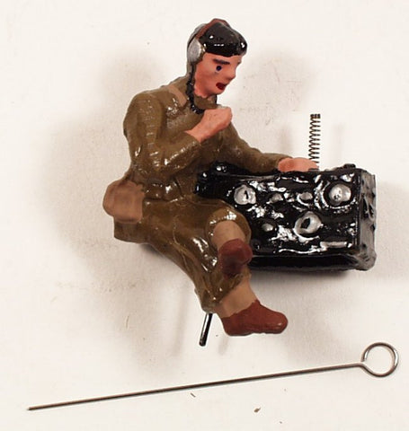 Composition Toy Soldier Figure Radio Operator