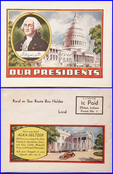 Alka-Seltzer Premium Our Presidents booklet
