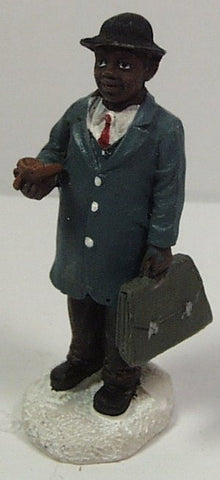 Train Figure : gentleman carrying briefcase & pipe 2-1/2 in. train figure