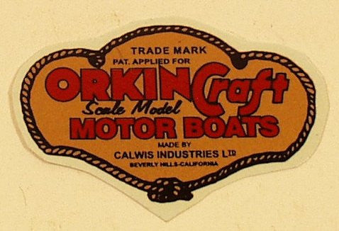 Orkin Craft Motor Boats Decal 1-3/4""
