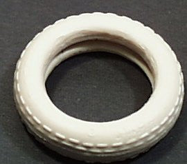 "1-3/4"" Arcade Republic White Rubber Tire"
