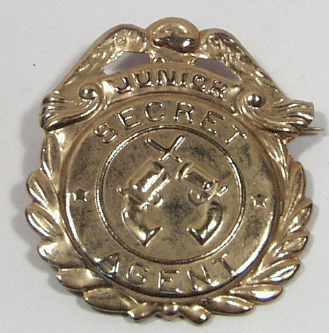 Junior Secret Agent Premium Badge stamped metal