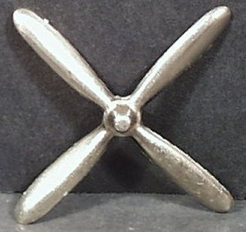 4 blade cast Hubley 495 Airplane Prop