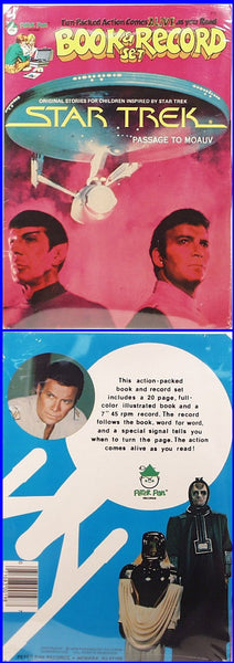 1979 Star Trek Book & Record Set Passage to Moauv