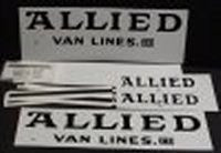 Tonka Set of Allied Moving Truck Decals