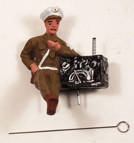 Toy Soldier Figure Radio Operator Officer Toy Soldier