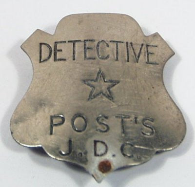Inspector Post's Early Detective Corps Badge Premium 1-5/8