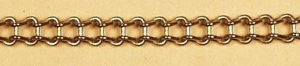 "Chain for Erector Motor :   Under 1/4"" or .230 wide with 6 links per inch."