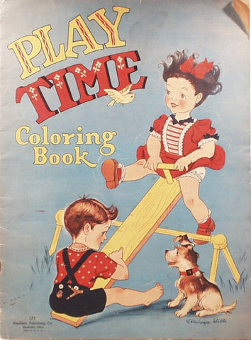 Play Time Coloring Book Stephens Publishing 1940s