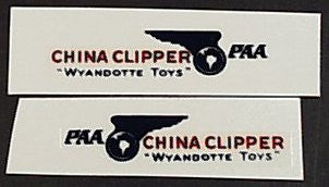 Wyandotte China Clipper Airplane Decal Set