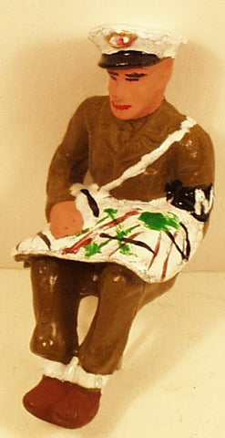 Toy Soldier Figure Police Officer Toy Soldier Reading Map