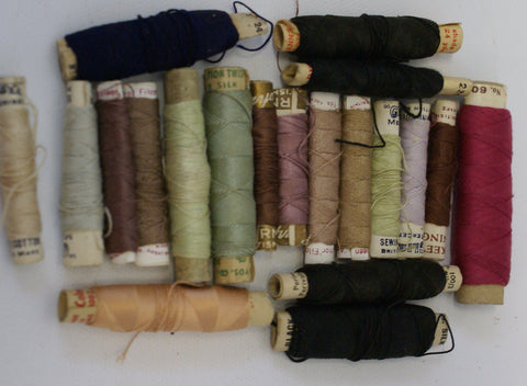 Vintage Darning Embroidery Thread spools