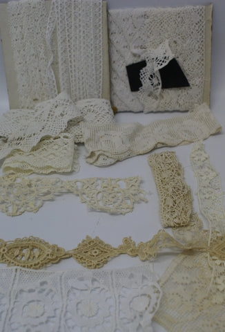 Vintage Lace : Cotton, Silk, hand make.