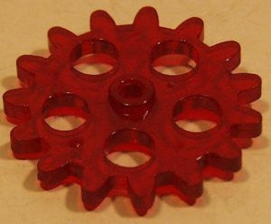 "1-1/4"" red gear for Robot vintage toy."
