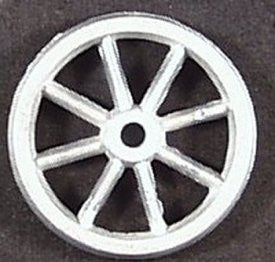 "1-3/16"" Cast spoked toy wheel."