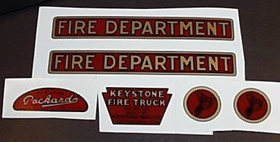 Keystone Fire Department Decal Set