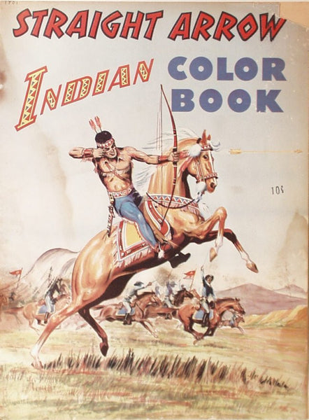 1949 Indian Straight Arrow Coloring Book Stephens Publishing